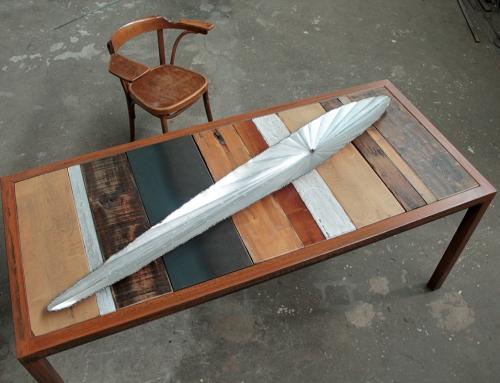 Tavolo in ferro patinato